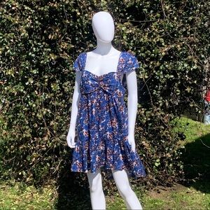 FP Pattern Play Floral Cap Sleeve Mini Dress